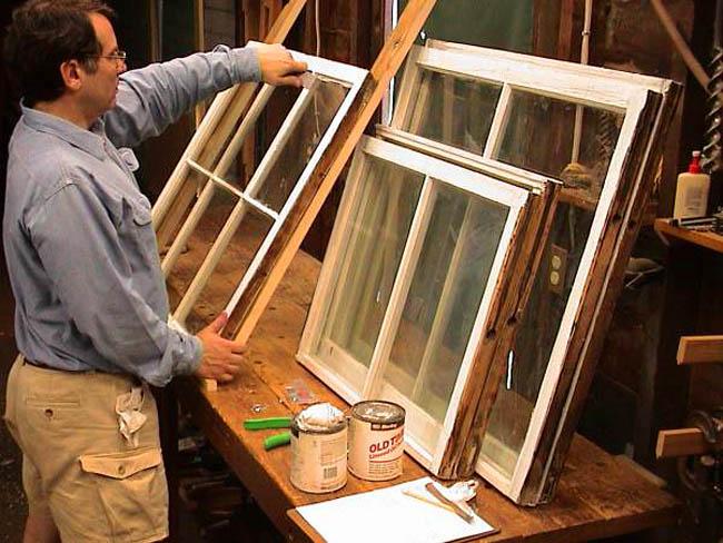 деревянные рамы с одинарным стеклом