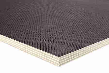 Рельефная поверхность фанеры в форме сетки